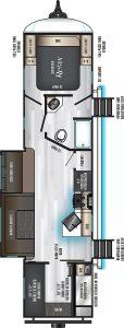 2021 Eurocruiser 110 Travel Trailer Floorplan
