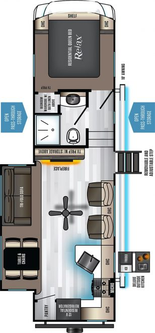 2021 Eurocruiser 935 Floorplan
