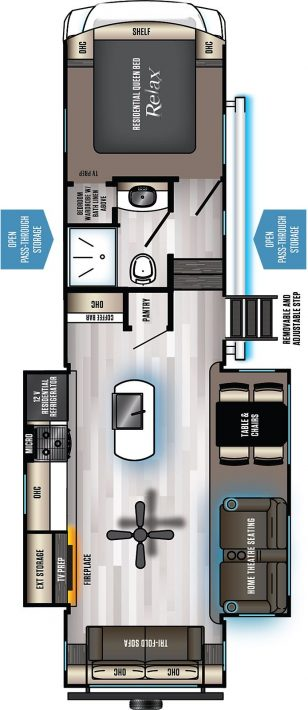 2021 Eurocruiser 965 floorplan